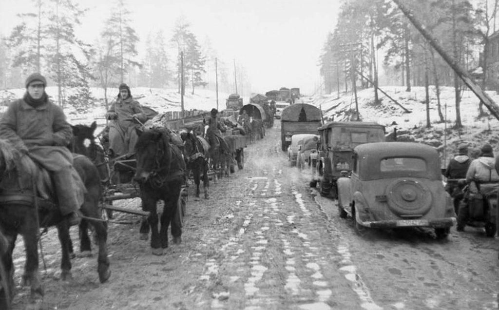 Февраль 1944г., отступление немцев на Вырицу
