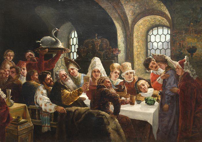 К.Маковский. Царский пир.1883