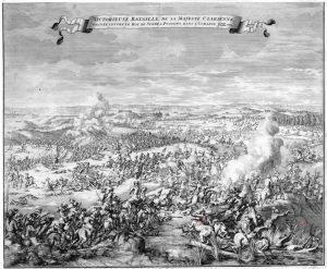 Полтавская битва на гравюре