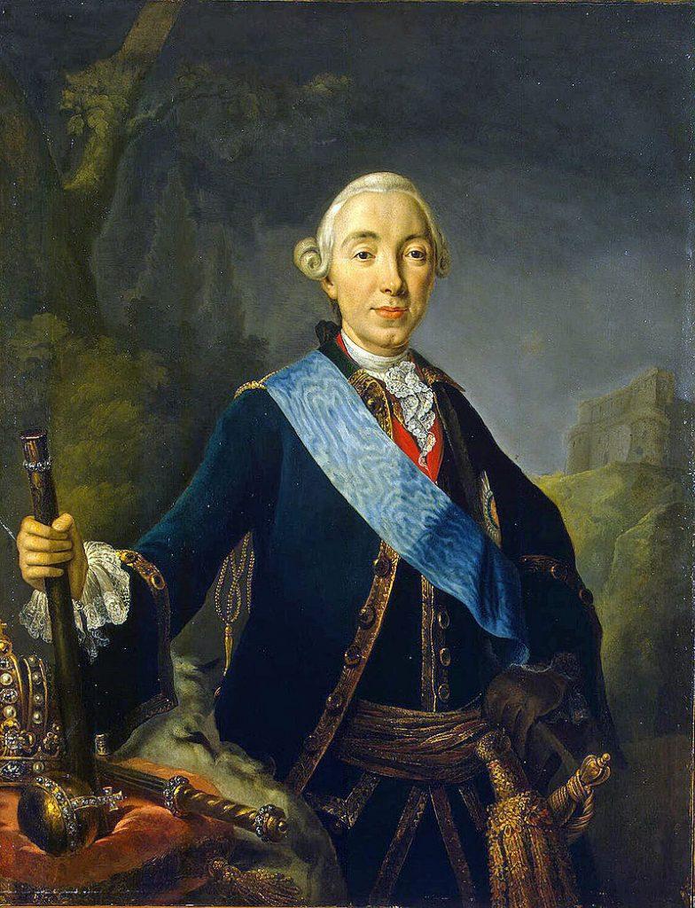 Л.Пфанцельта. Коронационный портрет Петра III. 1762.