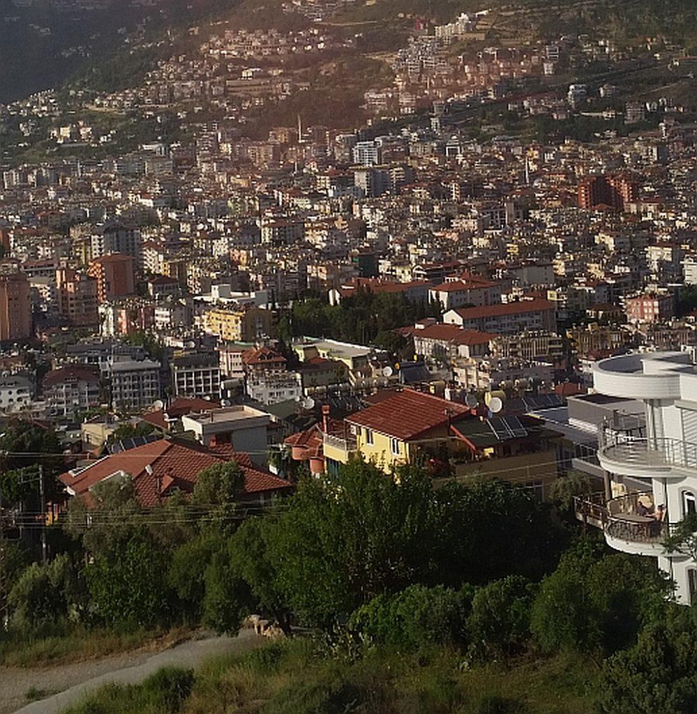 Вид на город с фуникулера