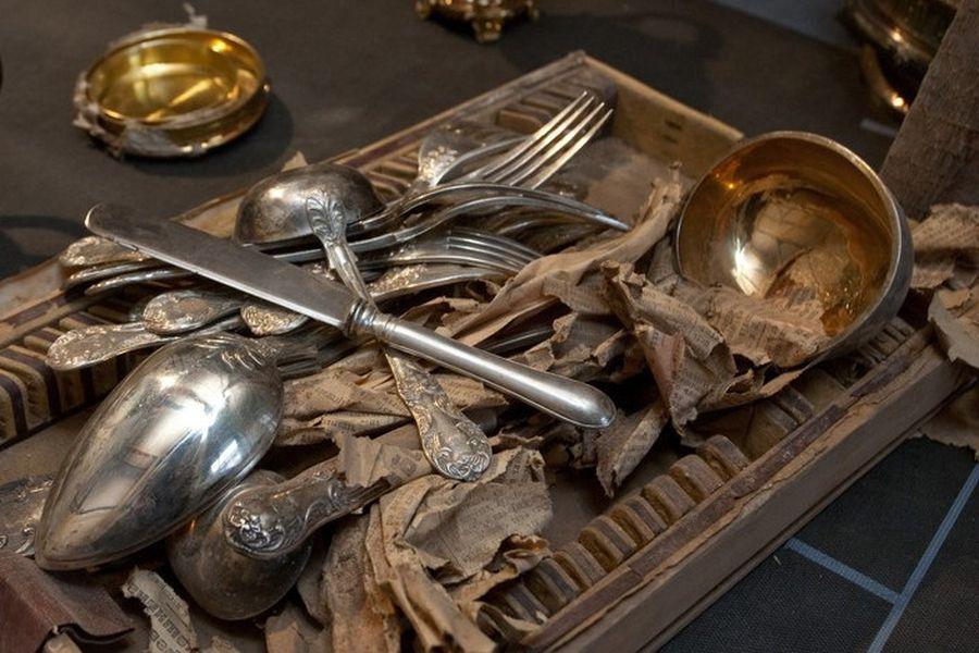 Столовое серебро одного из Вятских кладов